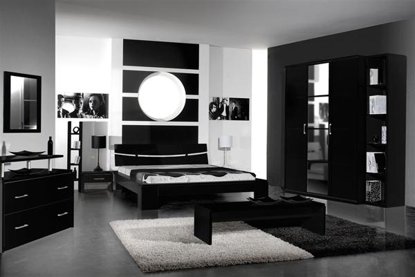 Wandfarben Wohnzimmer Dunkle Mobel : Sitzbank schlafzimmer schwarz ...