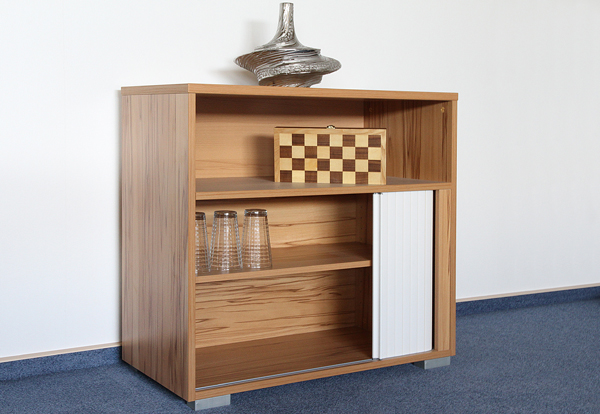 aktenschrank kommode rolladenschrank jalousie so994 kernbuche hochglanz weiss ebay. Black Bedroom Furniture Sets. Home Design Ideas