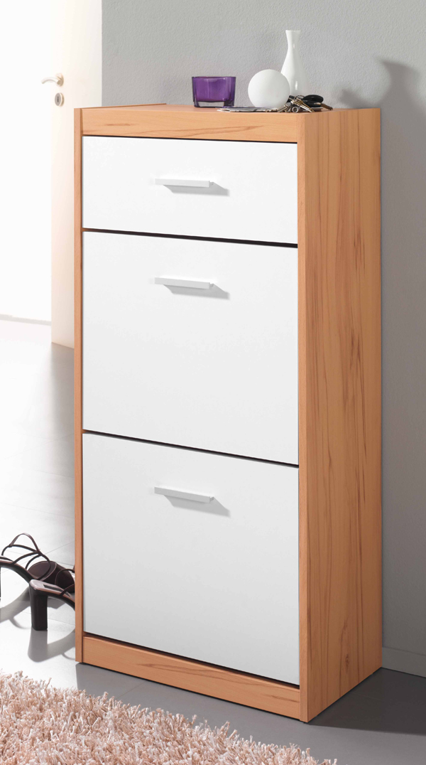 schuhschrank schrank schuhkipper schuhe mod s531 kernbuche weiss ebay. Black Bedroom Furniture Sets. Home Design Ideas