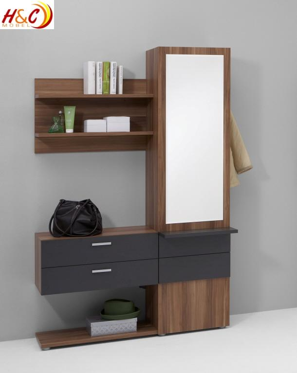 wandgarderobe garderobe schrank mit spiegel mod g122. Black Bedroom Furniture Sets. Home Design Ideas