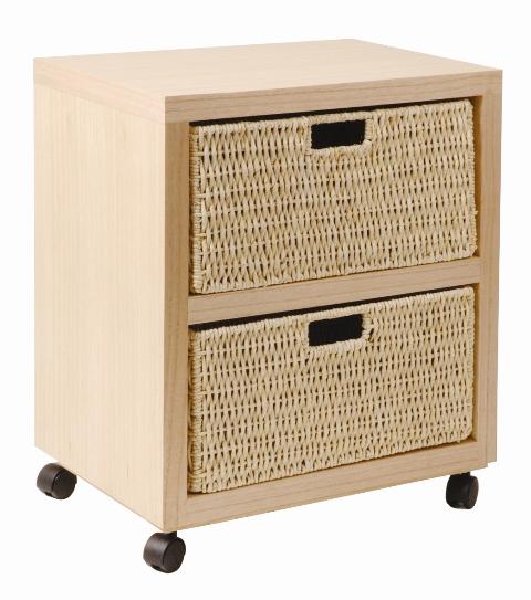 rollwagen rollcontainer beistellwagen mit korb maisgeflecht mod rw447 natur ebay. Black Bedroom Furniture Sets. Home Design Ideas