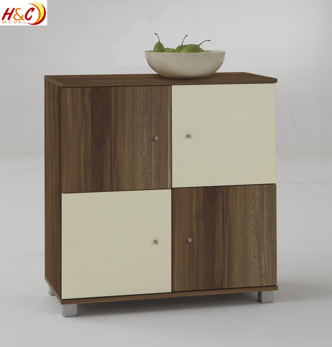 kommode aktenschrank schrank mod k260 nussbaum elfenbein ebay. Black Bedroom Furniture Sets. Home Design Ideas