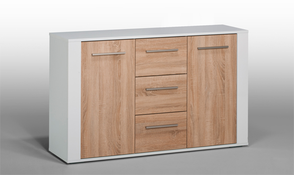 kommode aktenschrank schrank sideboard mod k450 weiss hochglanz sonoma eiche ebay. Black Bedroom Furniture Sets. Home Design Ideas