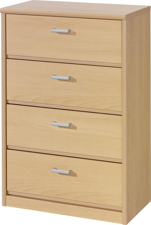 kommode highboard schrank mit 4 schubladen mod k452 buche. Black Bedroom Furniture Sets. Home Design Ideas