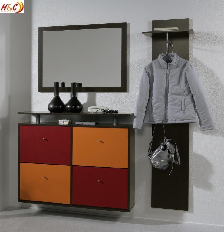 ... Schuhkipper Hängeschuhschrank Schrank Mod.G127 Noce Weiss  eBay