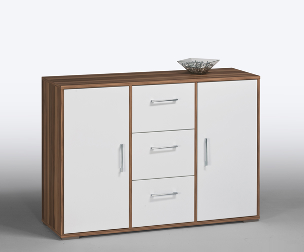 kommode sideboard aktenschrank schrank mod k398 baltimore weiss hochglanz ebay. Black Bedroom Furniture Sets. Home Design Ideas