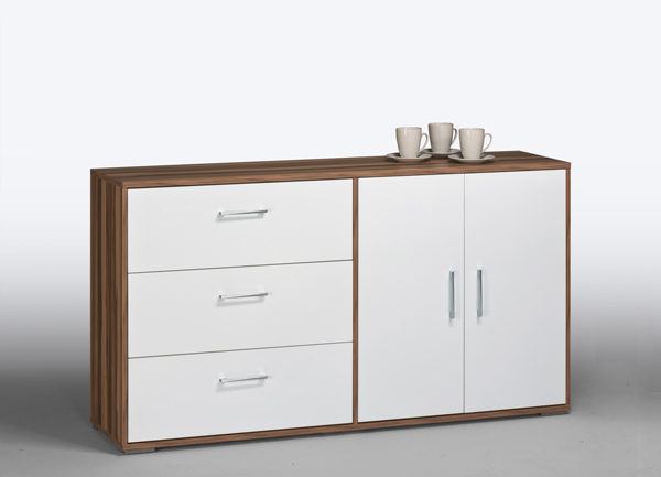 kommode highboard schrank aktenschrank mod k400 baltimore weiss hochglanz ebay. Black Bedroom Furniture Sets. Home Design Ideas
