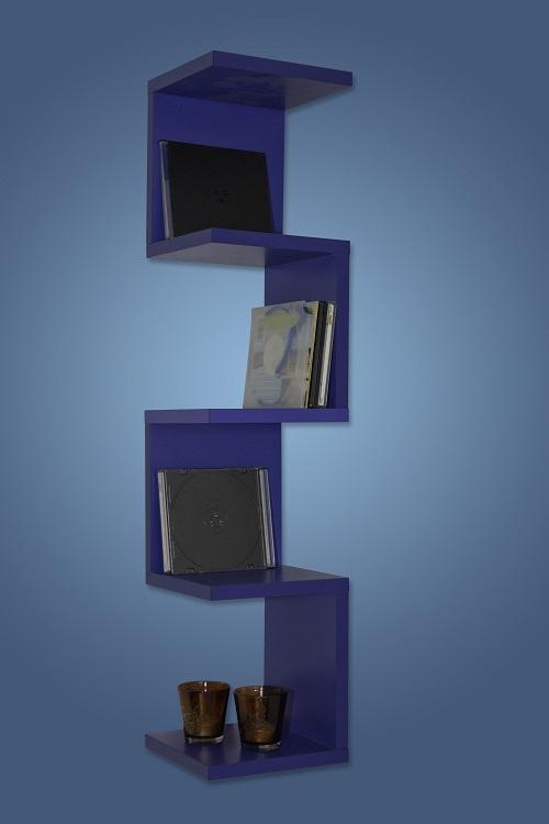 wandregal eckregal cd regal b cherregal mod so118 blau ebay. Black Bedroom Furniture Sets. Home Design Ideas