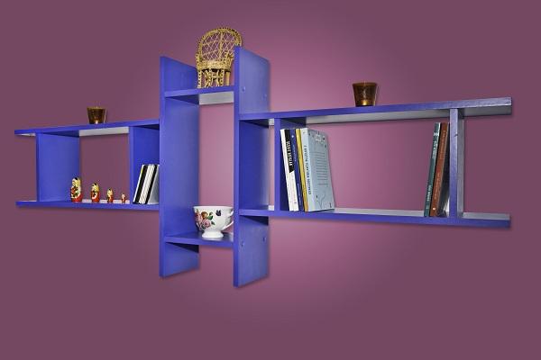 3tlg wandregal regal b cherregal h ngeregal mod r384 blau. Black Bedroom Furniture Sets. Home Design Ideas