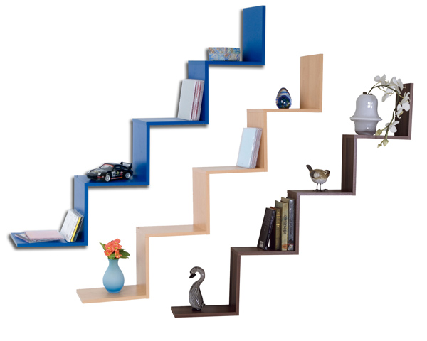 stufenregal wandregal b cherregal regal mod r450 blau buche nussbaum ebay. Black Bedroom Furniture Sets. Home Design Ideas
