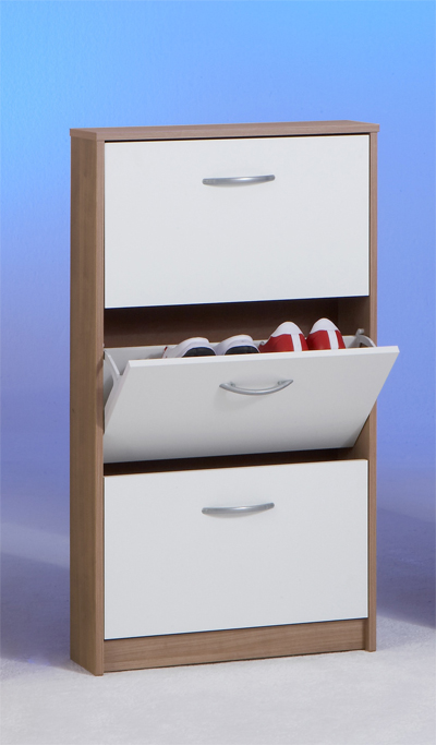 schuhschrank schuhkipper schrank schuhe mod s535 noce weiss ebay. Black Bedroom Furniture Sets. Home Design Ideas