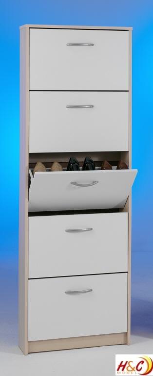 Schuhschrank mit 5 schuhkipper in verschiedenen farben ebay for Schuhschrank alu