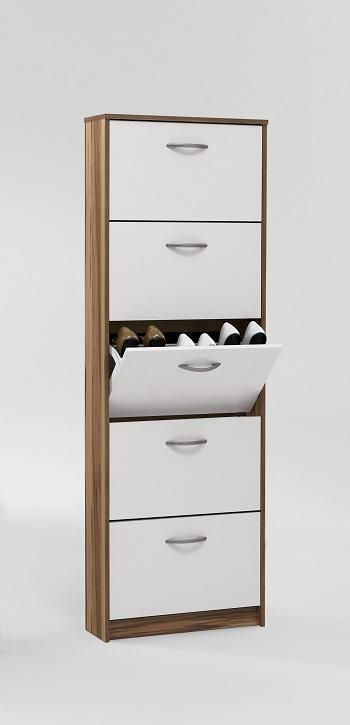 schuhschrank mit 5 schuhkipper in verschiedenen farben ebay. Black Bedroom Furniture Sets. Home Design Ideas