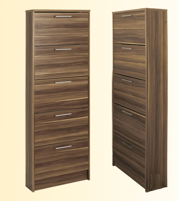schuhschrank schuhkipper schuhe schrank mod s564 nussbaum. Black Bedroom Furniture Sets. Home Design Ideas