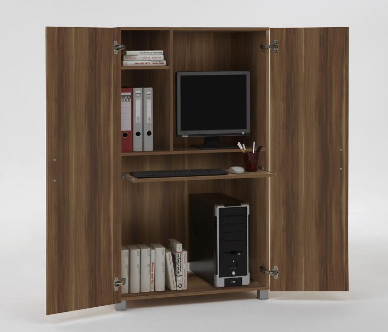 details zu computerschran k pc b ro schrank buche buche pictures to pin on pinterest. Black Bedroom Furniture Sets. Home Design Ideas