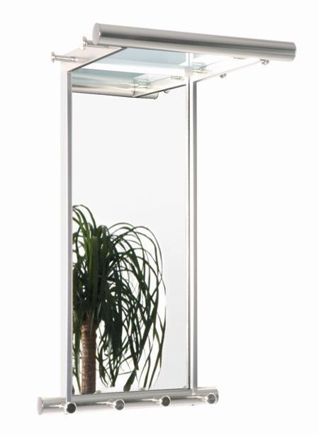 wandgarderobe garderobe mit spiegel wandspiegel chrom alu optik mod so117 ebay. Black Bedroom Furniture Sets. Home Design Ideas