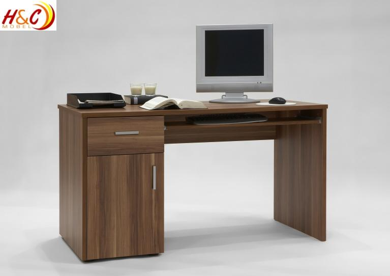 schreibtisch computertisch tisch workstation mod t937 nussbaum ebay. Black Bedroom Furniture Sets. Home Design Ideas