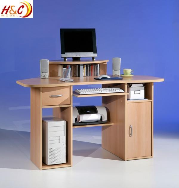 eckschreibtisch computertisch tisch mod t914 buche ebay. Black Bedroom Furniture Sets. Home Design Ideas