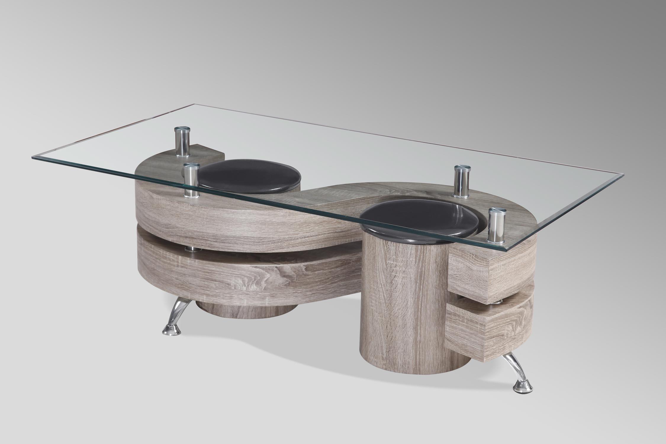 couchtisch loungetisch mit hocker tisch mod t114 eiche wei schwarz hochglanz ebay. Black Bedroom Furniture Sets. Home Design Ideas