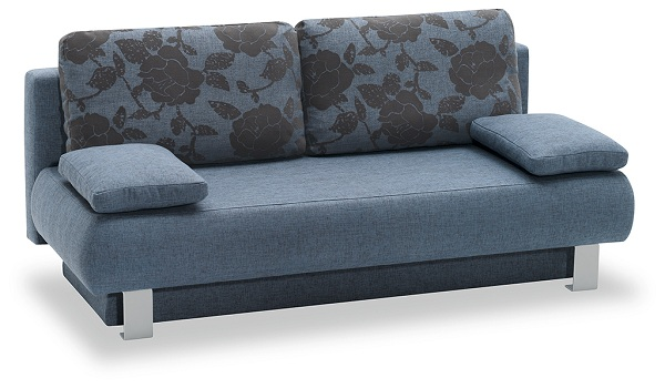 schlafsofa funktionssofa sofa querschl fer mod l100 blau. Black Bedroom Furniture Sets. Home Design Ideas
