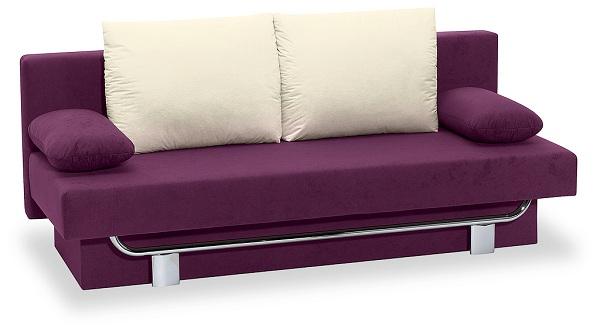 schlafsofa funktionssofa sofa querschl fer mod l102 brombeer creme chrom ebay. Black Bedroom Furniture Sets. Home Design Ideas