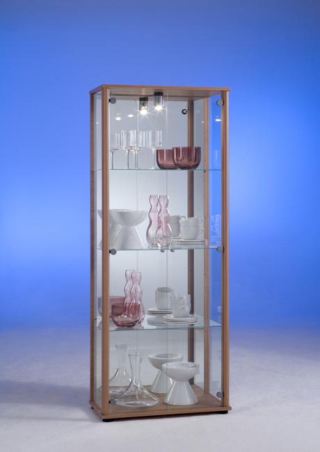 ... Vitrine Glasvitrine Schrank mit Beleuchtung Mod.V731 Noce  eBay